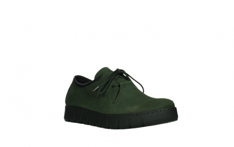 wolky lace up shoes 02325 vic 16735 forest green nubuck_4