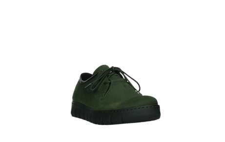 wolky lace up shoes 02325 vic 16735 forest green nubuck_5