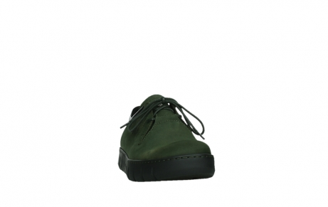 wolky lace up shoes 02325 vic 16735 forest green nubuck_6