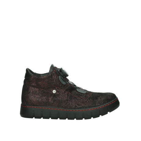 wolky lace up shoes 02326 rap 43510 bordo metalsuede