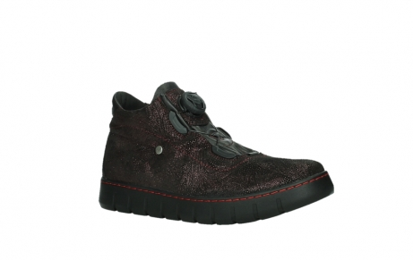 wolky lace up shoes 02326 rap 43510 bordo metalsuede_3