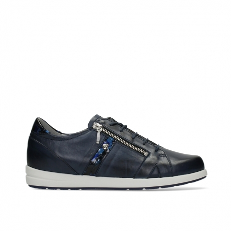 wolky lace up shoes 02429 friction xw 26800 blue smooth leather croco patent leather