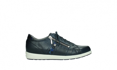 wolky lace up shoes 02429 friction xw 26800 blue smooth leather croco patent leather_1