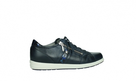 wolky lace up shoes 02429 friction xw 26800 blue smooth leather croco patent leather_24
