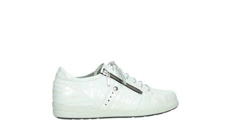 wolky lace up shoes 02429 friction xw 83123 off white silver zebra metallic leather_24