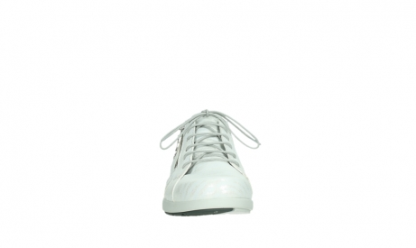 wolky lace up shoes 02429 friction xw 83123 off white silver zebra metallic leather_7