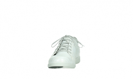 wolky lace up shoes 02429 friction xw 83123 off white silver zebra metallic leather_8