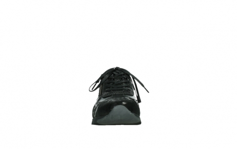 wolky lace up shoes 02525 yell 36000 shiny black leather_7