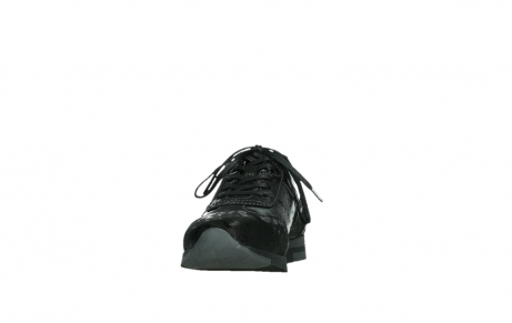 wolky lace up shoes 02525 yell 36000 shiny black leather_8