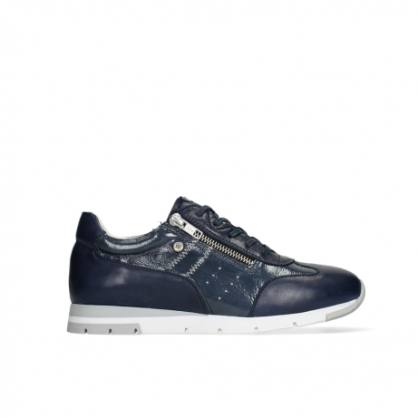 wolky lace up shoes 02526 yell xw 26820 denim leather with lacquer accent