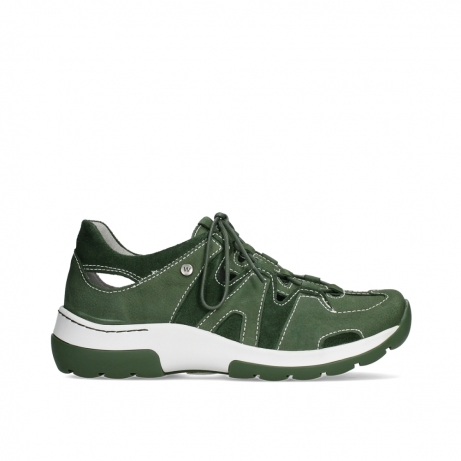wolky lace up shoes 03028 nortec 11720 moss green nubuck