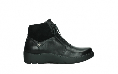 wolky lace up boots 03252 daydream 24000 black leather_1