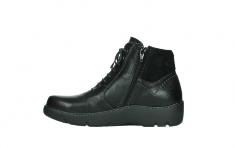 wolky lace up boots 03252 daydream 24000 black leather_13