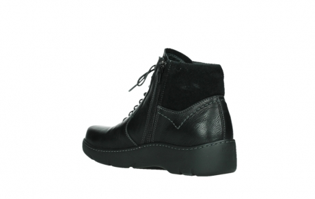 wolky lace up boots 03252 daydream 24000 black leather_16