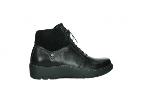 wolky lace up boots 03252 daydream 24000 black leather_24