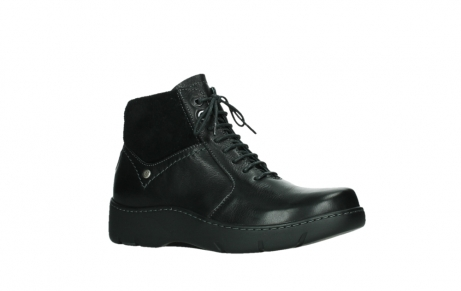 wolky lace up boots 03252 daydream 24000 black leather_3
