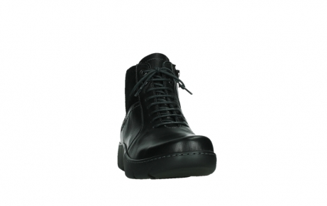 wolky lace up boots 03252 daydream 24000 black leather_6