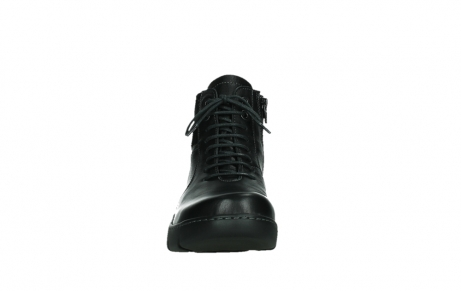 wolky lace up boots 03252 daydream 24000 black leather_7