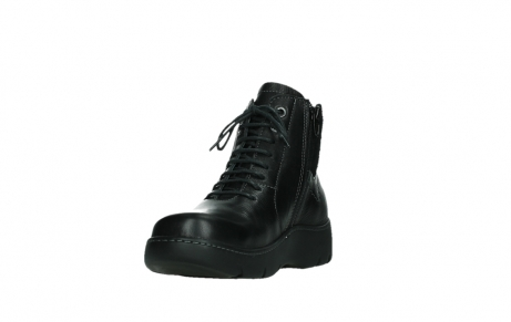 wolky lace up boots 03252 daydream 24000 black leather_9