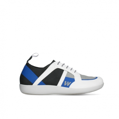 wolky lace up shoes 04075 base 00286 anthracite royal blue microfibre