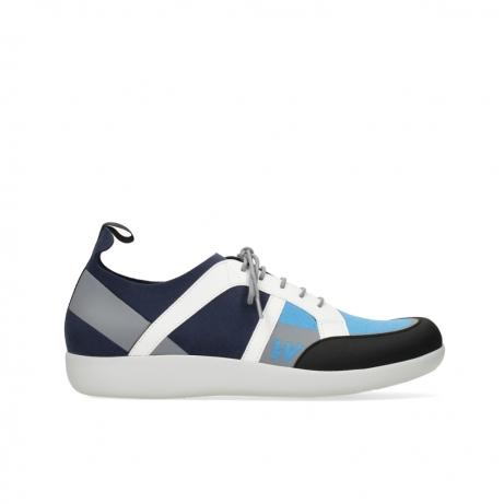 wolky lace up shoes 04075 base 00821 denim white microfibre