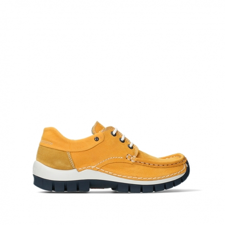 wolky lace up shoes 04701 fly 11558 orange blue nubuck