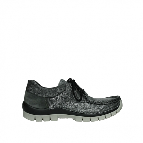 wolky lace up shoes 04726 fly winter 81280 metal grey leather