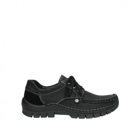 wolky lace up shoes 04734 seamy fly winter 11002 black nubuck