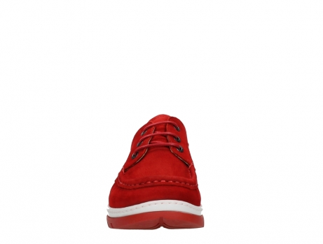 wolky lace up shoes 04853 time 11570 red nubuck_7