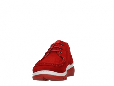 wolky lace up shoes 04853 time 11570 red nubuck_8