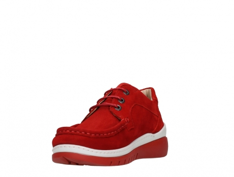 wolky lace up shoes 04853 time 11570 red nubuck_9