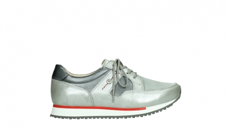 wolky lace up shoes 05811 e walk xw 87130 silver grey pearl stretch leather_1