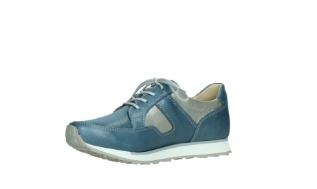 wolky lace up shoes 05811 e walk xw 87860 steel blue pearl stretch leather_11