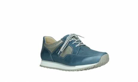 wolky lace up shoes 05811 e walk xw 87860 steel blue pearl stretch leather_4