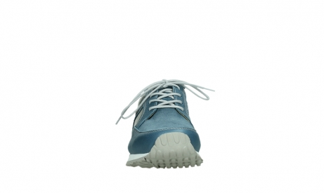 wolky lace up shoes 05811 e walk xw 87860 steel blue pearl stretch leather_7