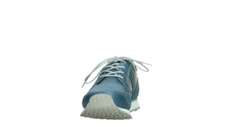 wolky lace up shoes 05811 e walk xw 87860 steel blue pearl stretch leather_8