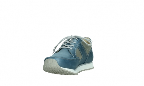 wolky lace up shoes 05811 e walk xw 87860 steel blue pearl stretch leather_9