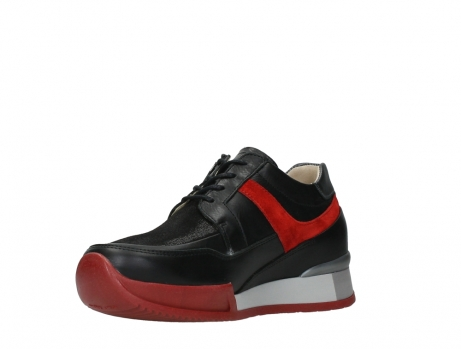 wolky lace up shoes 05880 banff 24050 black dark red stretch leather_10