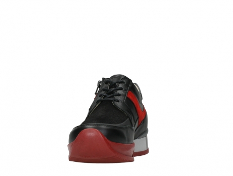wolky lace up shoes 05880 banff 24050 black dark red stretch leather_8