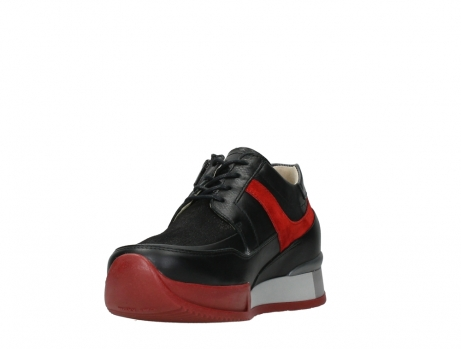wolky lace up shoes 05880 banff 24050 black dark red stretch leather_9