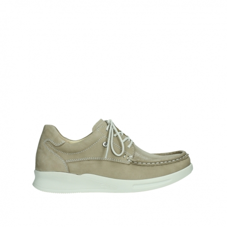 wolky lace up shoes 05901 one 10390 beige stretch nubuck