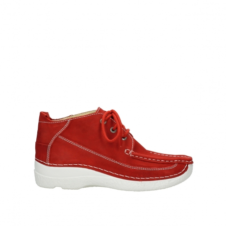 wolky lace up shoes 06200 roll moc 11570 red nubuck