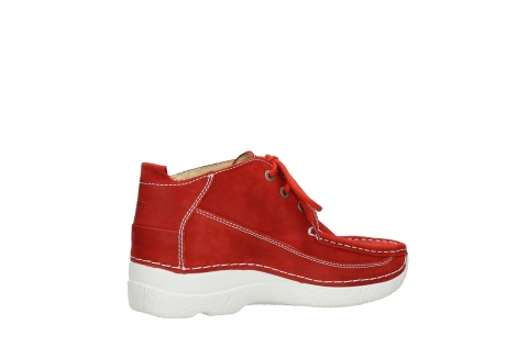wolky lace up shoes 06200 roll moc 11570 red nubuck_11