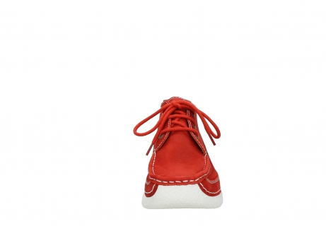 wolky lace up shoes 06200 roll moc 11570 red nubuck_19