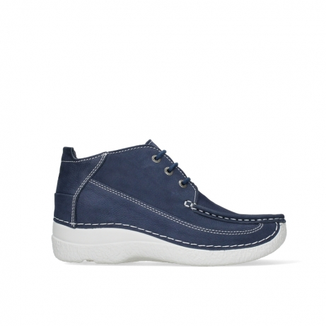 wolky lace up shoes 06200 roll moc 11820 denimblue nubuck