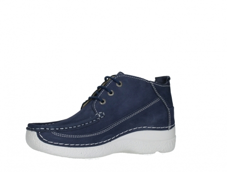 wolky lace up shoes 06200 roll moc 11820 denimblue nubuck_11