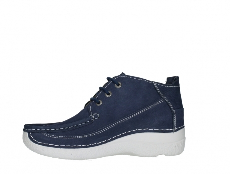 wolky lace up shoes 06200 roll moc 11820 denimblue nubuck_12