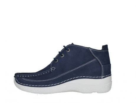 wolky lace up shoes 06200 roll moc 11820 denimblue nubuck_13