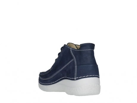 wolky lace up shoes 06200 roll moc 11820 denimblue nubuck_17