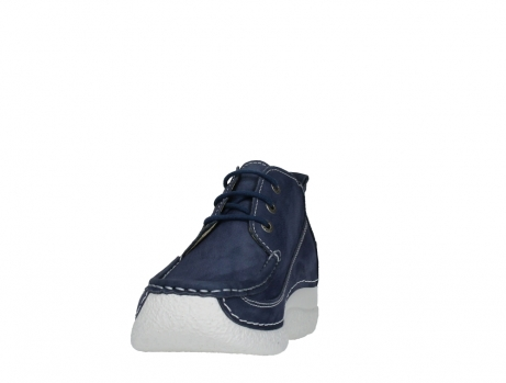 wolky lace up shoes 06200 roll moc 11820 denimblue nubuck_8